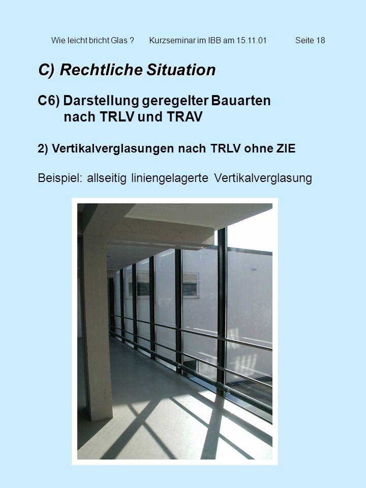 Wie leicht bricht Glas Kurzseminar im IBB am 15.11.01 Seite 18