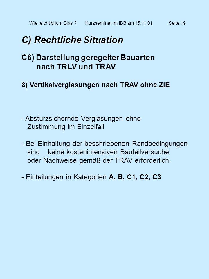 Wie leicht bricht Glas Kurzseminar im IBB am 15.11.01 Seite 19