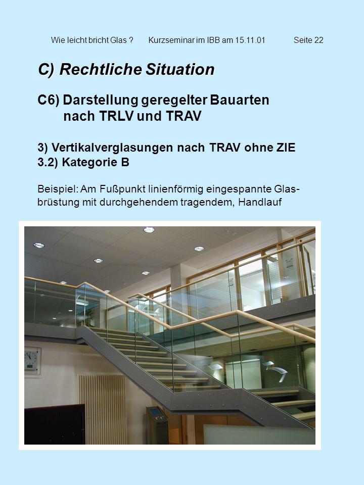 Wie leicht bricht Glas Kurzseminar im IBB am 15.11.01 Seite 22