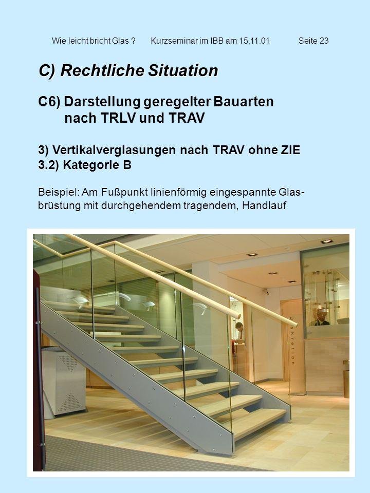 Wie leicht bricht Glas Kurzseminar im IBB am 15.11.01 Seite 23