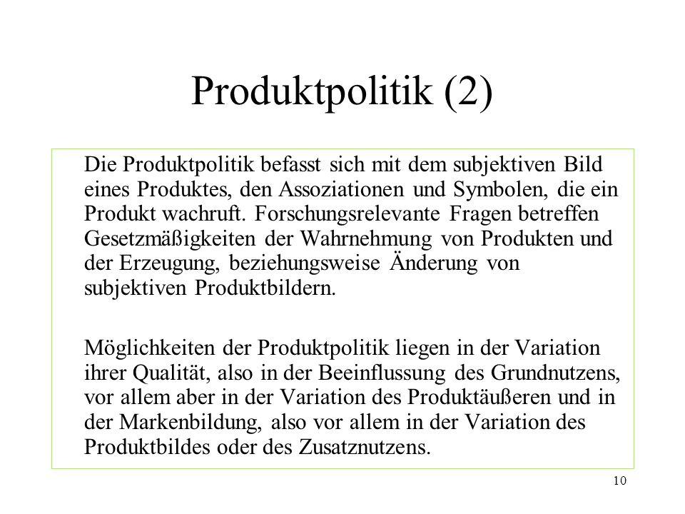 Produktpolitik (2)