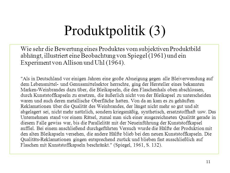Produktpolitik (3)