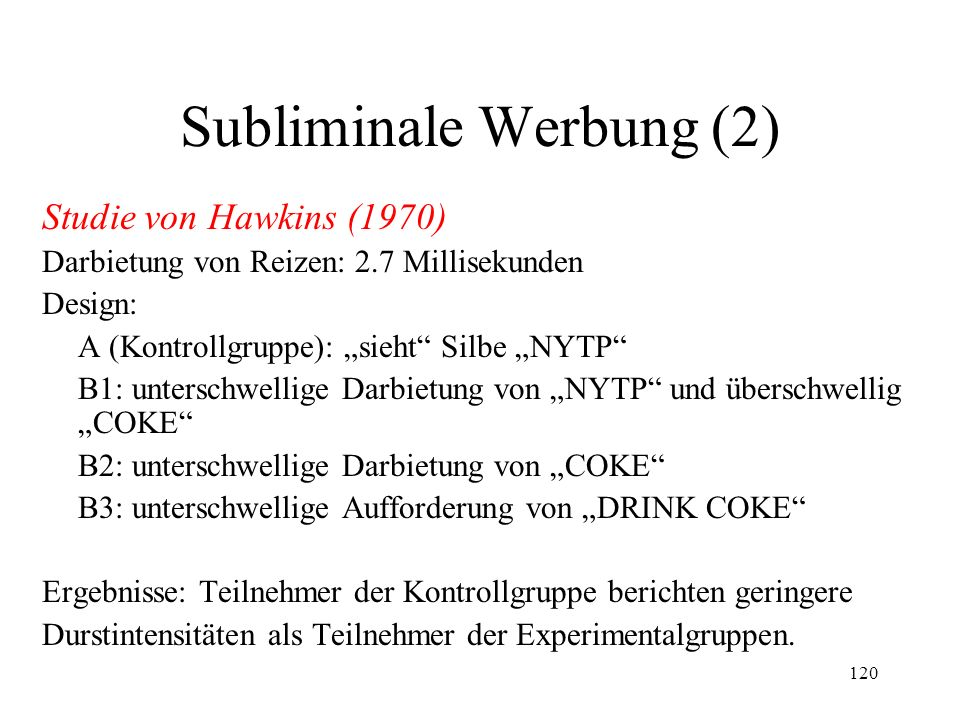 Subliminale Werbung (2)