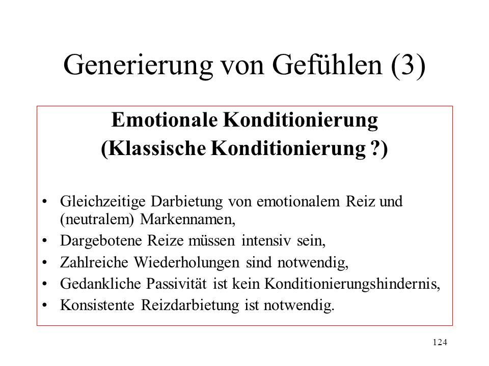 Generierung von Gefühlen (3)