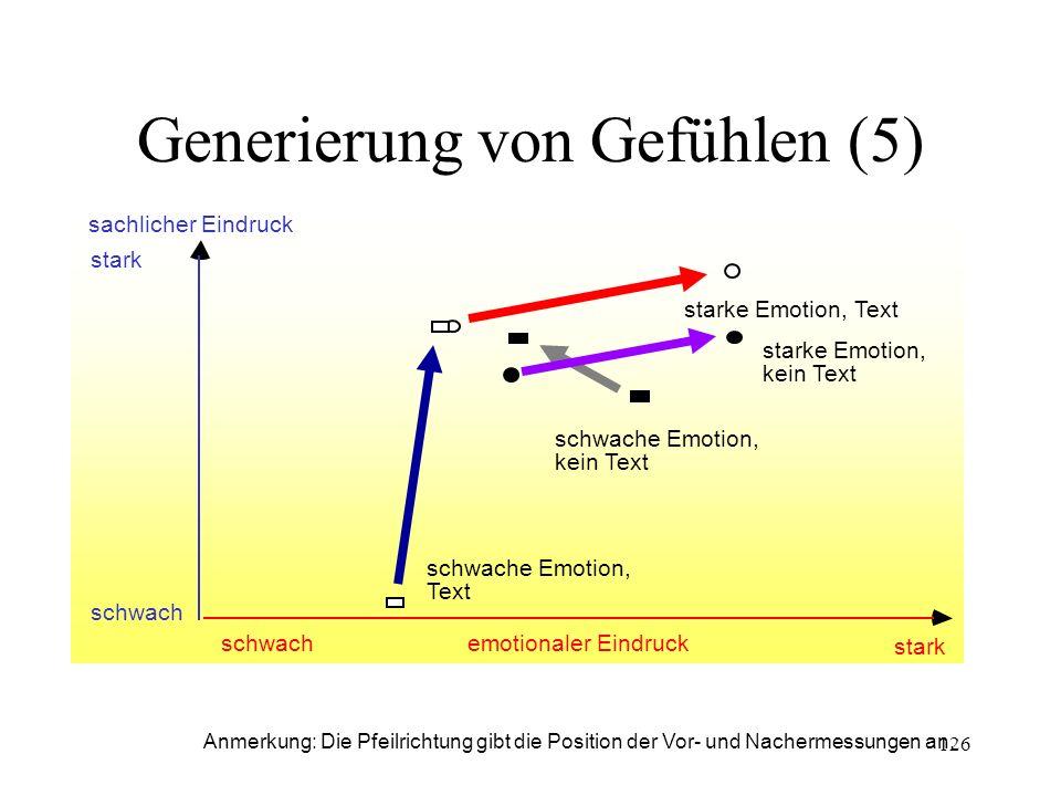 Generierung von Gefühlen (5)