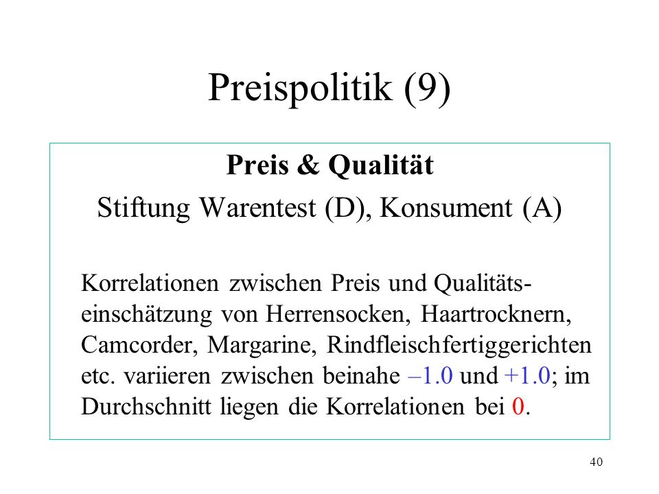 Stiftung Warentest (D), Konsument (A)