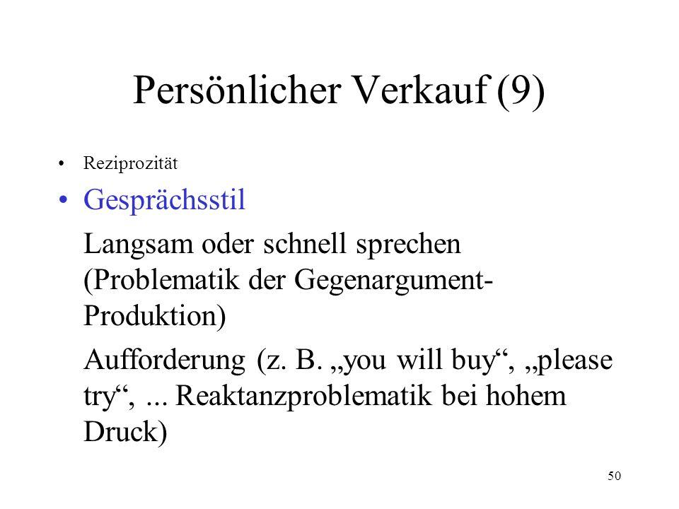 Persönlicher Verkauf (9)