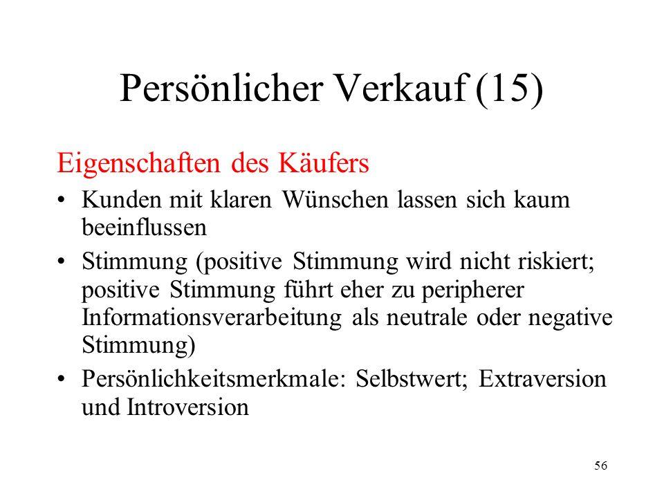 Persönlicher Verkauf (15)