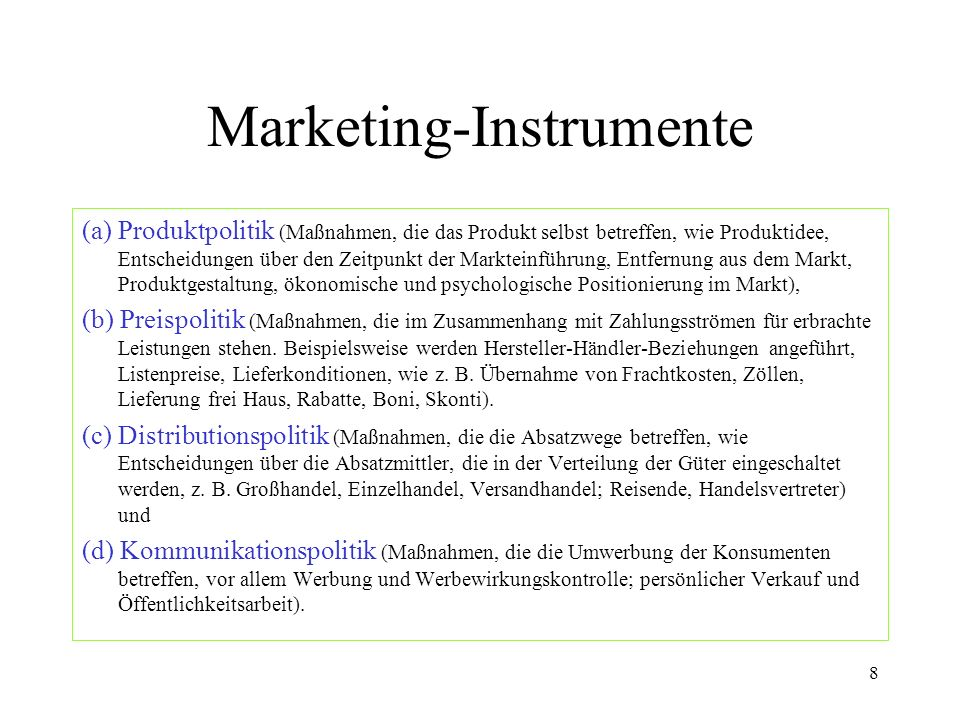 Marketing-Instrumente