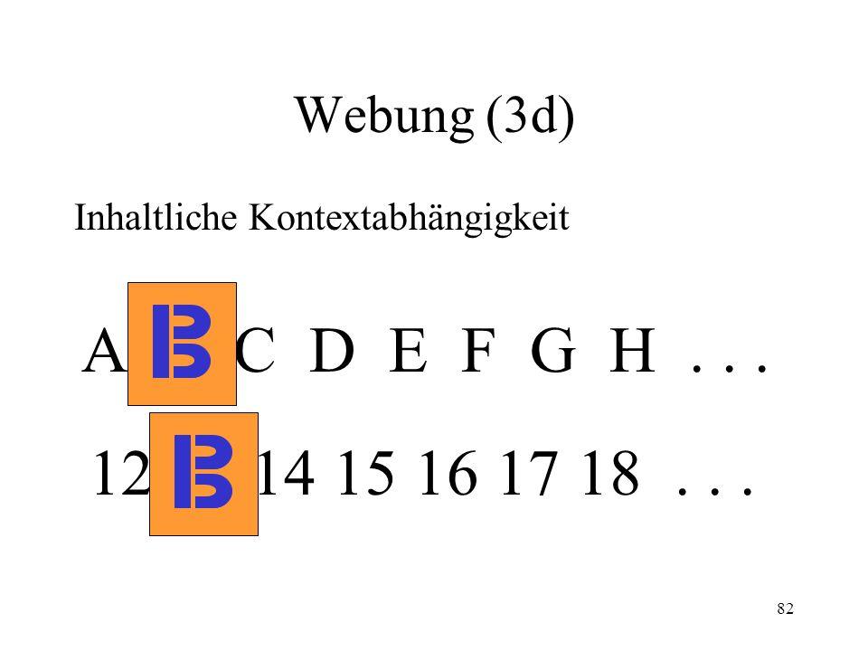 Webung (3d) Inhaltliche Kontextabhängigkeit. A B C D E F G H .