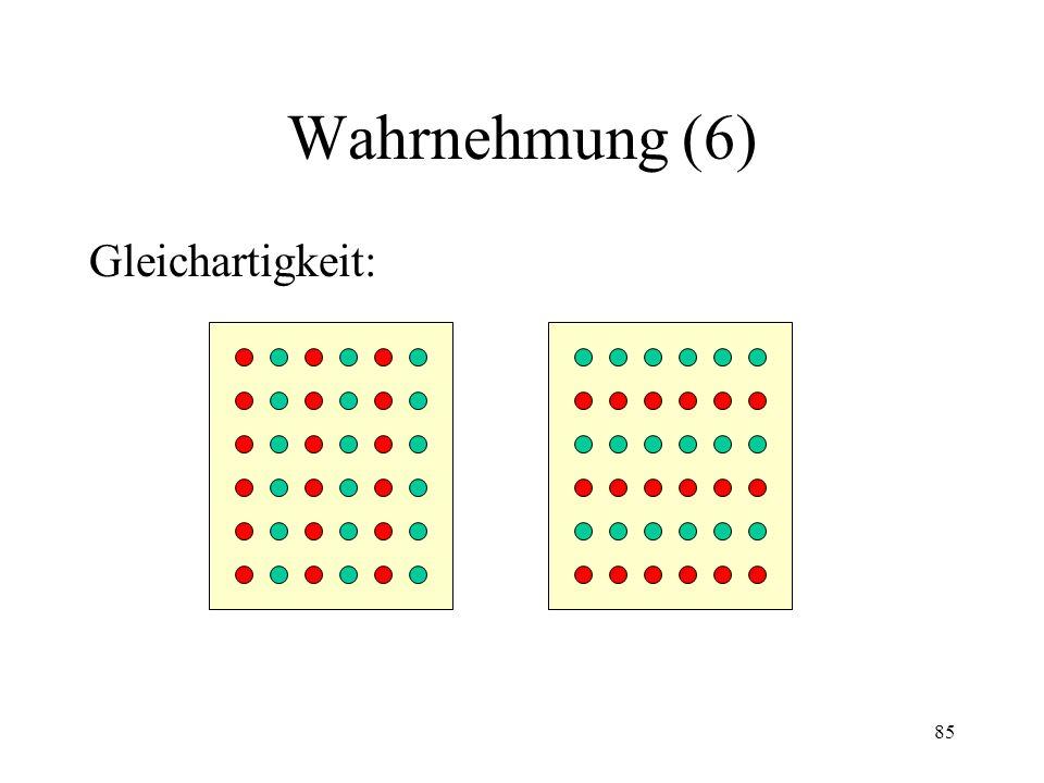 Wahrnehmung (6) Gleichartigkeit: