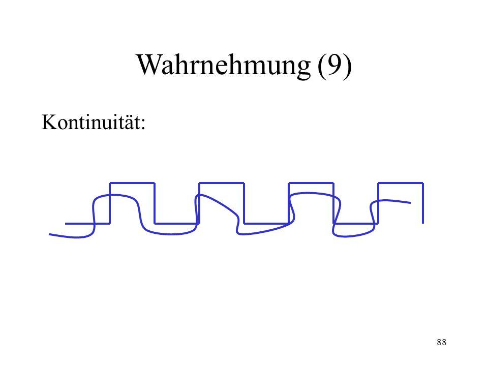 Wahrnehmung (9) Kontinuität:
