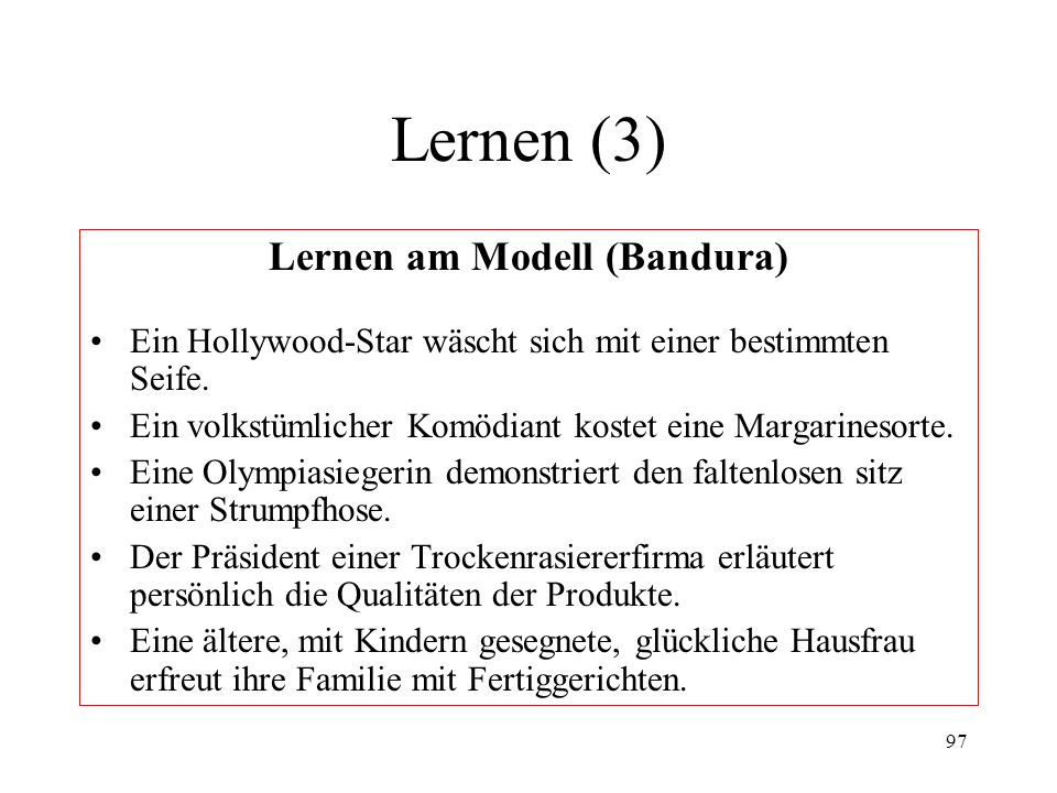 Lernen am Modell (Bandura)