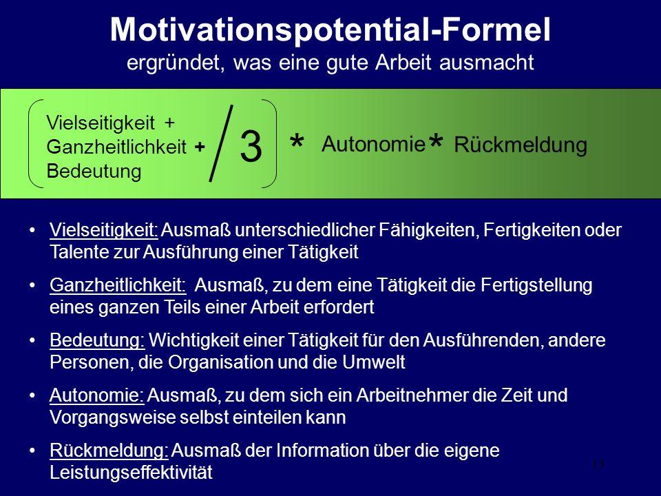 Motivationspotential-Formel ergründet, was eine gute Arbeit ausmacht