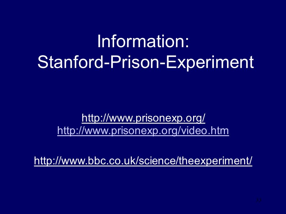 Information: Stanford-Prison-Experiment