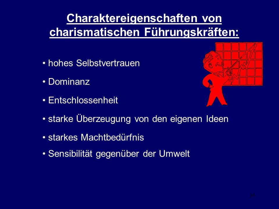 Charaktereigenschaften von charismatischen Führungskräften: