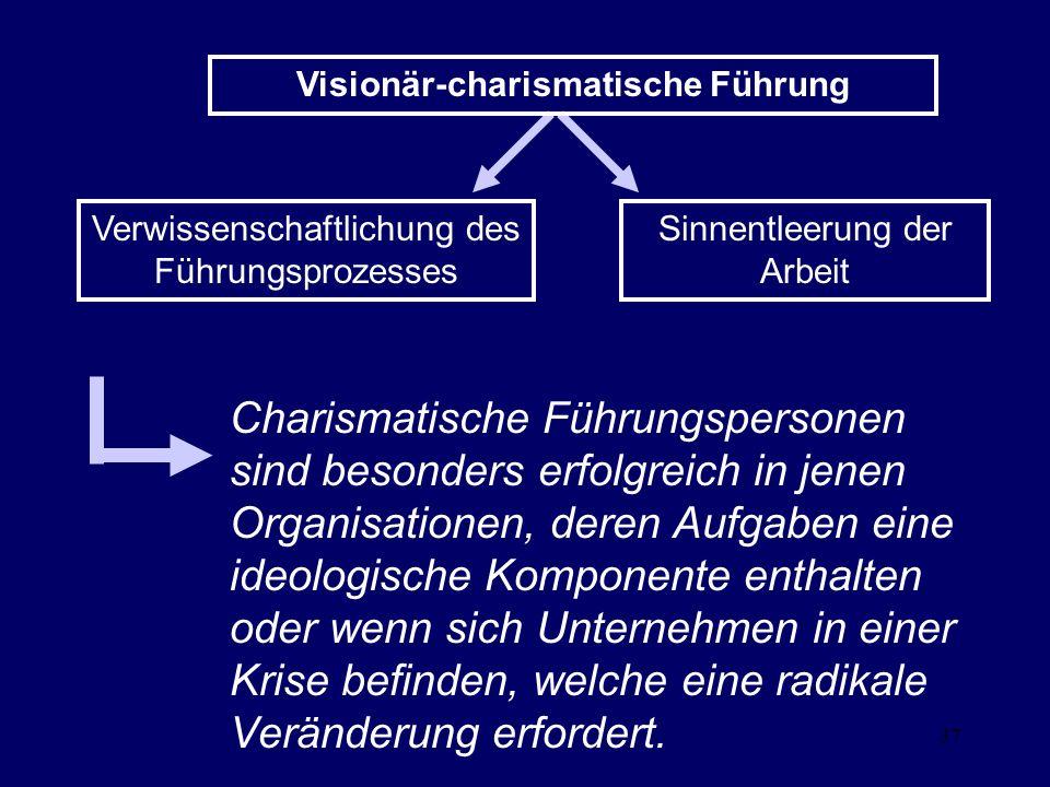 Visionär-charismatische Führung