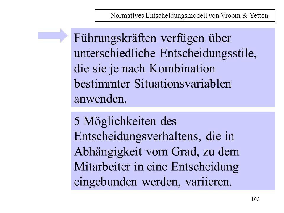 Normatives Entscheidungsmodell von Vroom & Yetton