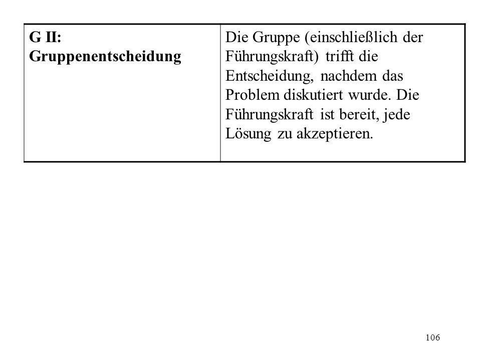 G II: Gruppenentscheidung