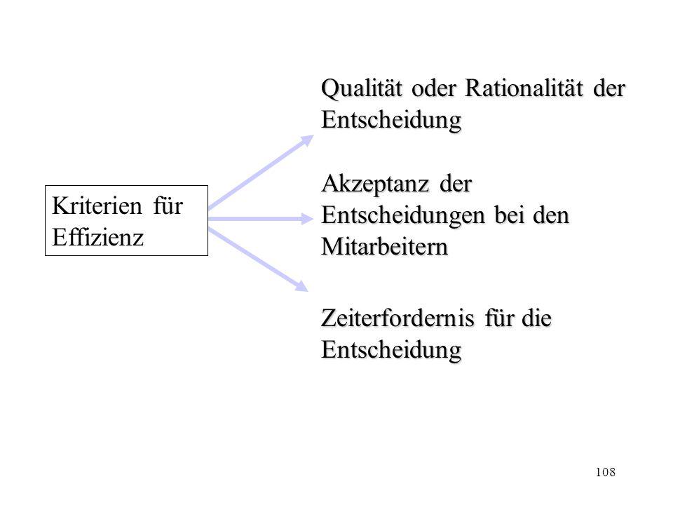 Qualität oder Rationalität der Entscheidung