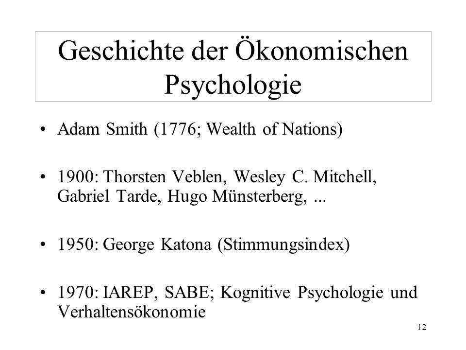 Geschichte der Ökonomischen Psychologie