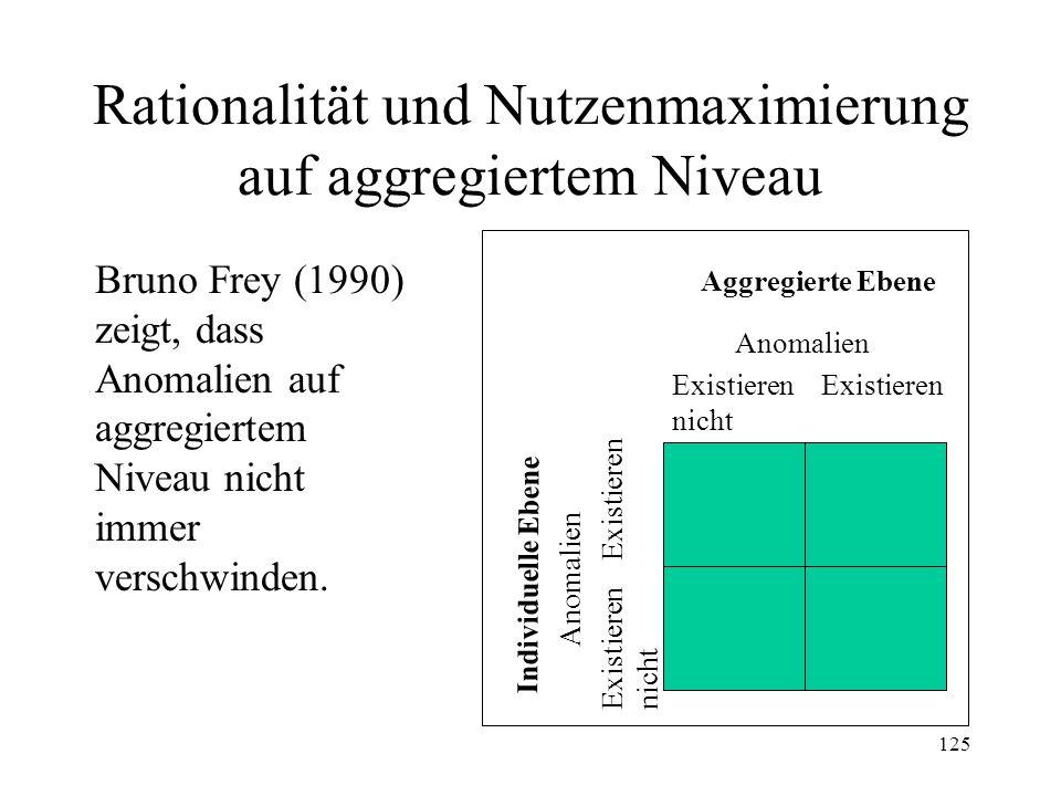 Rationalität und Nutzenmaximierung auf aggregiertem Niveau