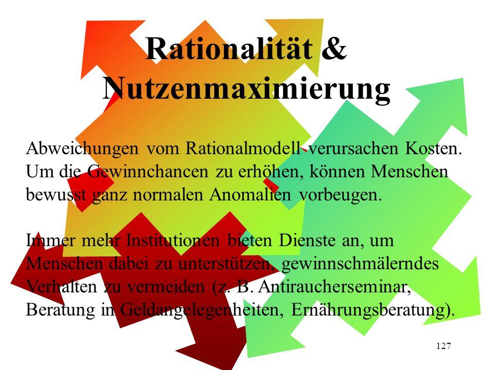 Rationalität & Nutzenmaximierung