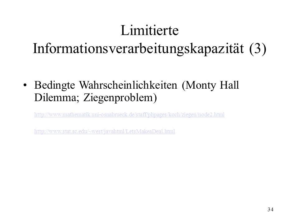 Limitierte Informationsverarbeitungskapazität (3)