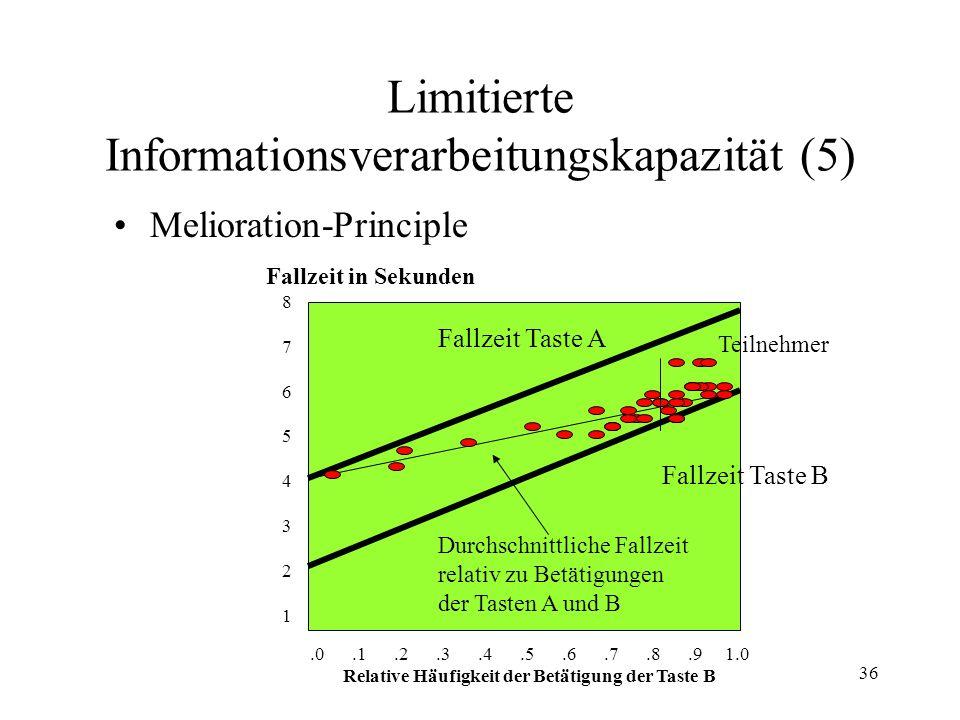 Limitierte Informationsverarbeitungskapazität (5)