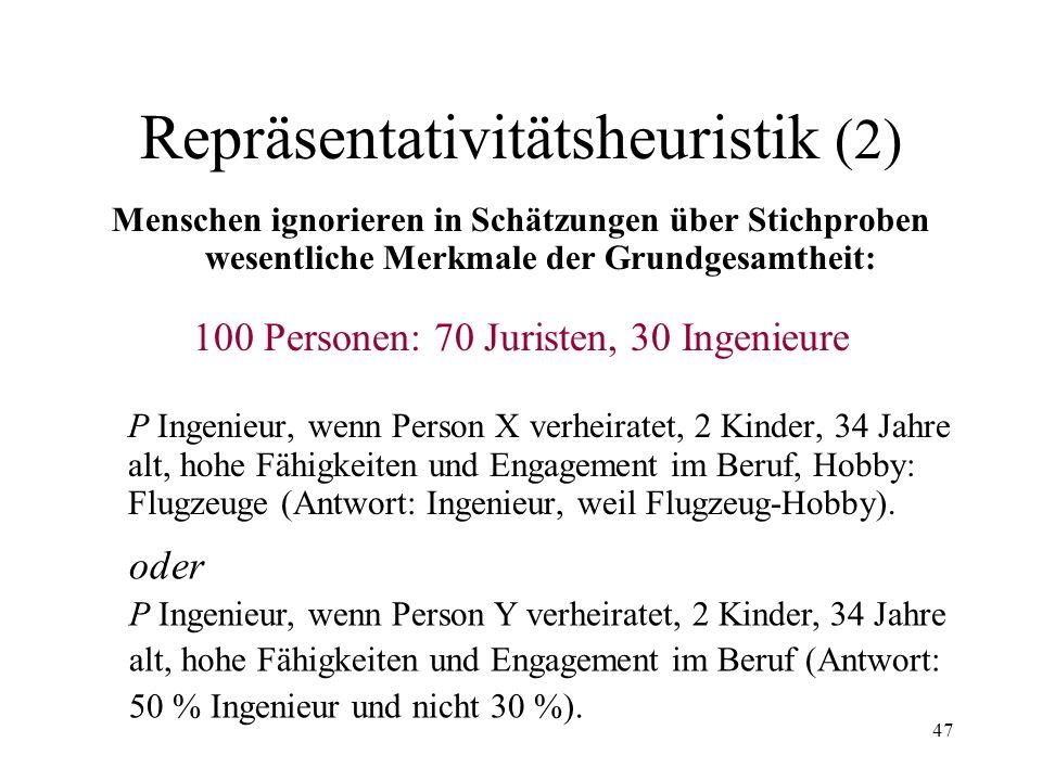 Repräsentativitätsheuristik (2)