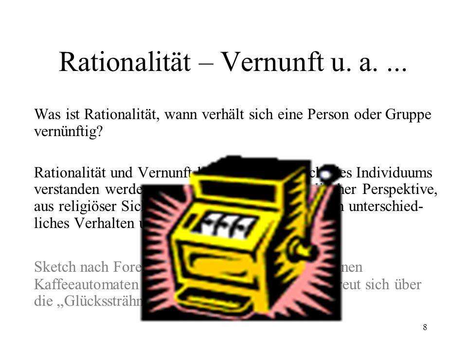 Rationalität – Vernunft u. a. ...