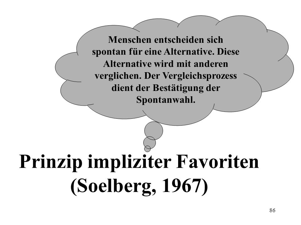 Prinzip impliziter Favoriten (Soelberg, 1967)