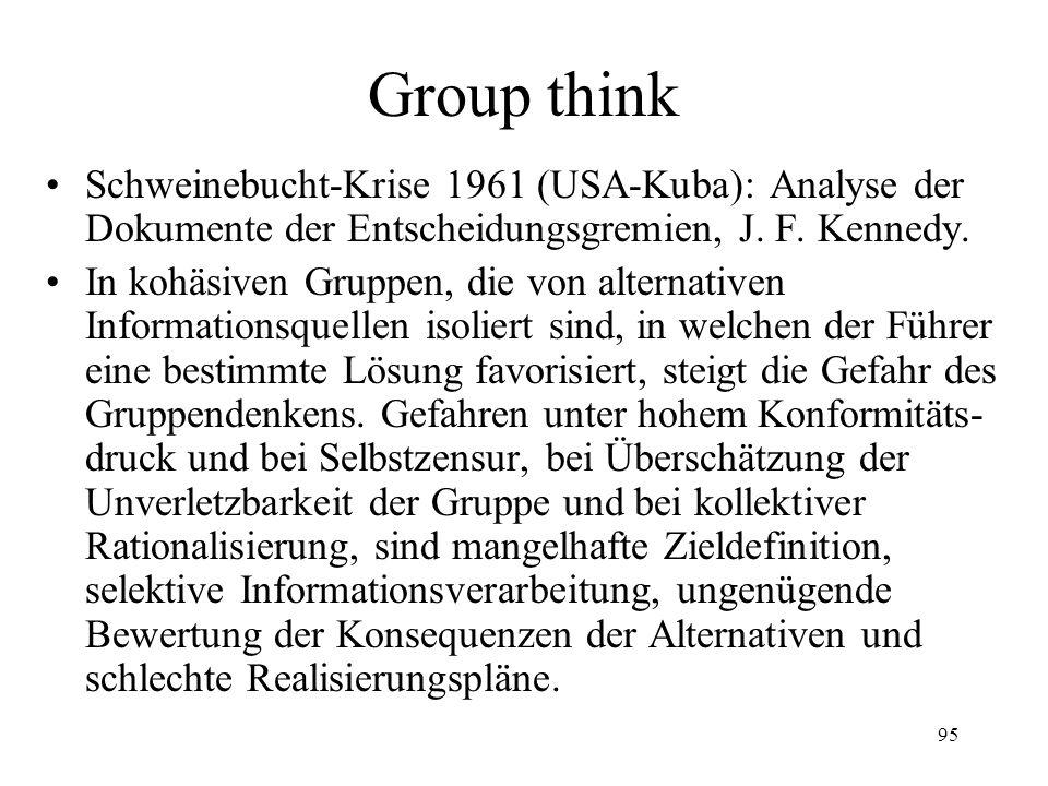 Group think Schweinebucht-Krise 1961 (USA-Kuba): Analyse der Dokumente der Entscheidungsgremien, J. F. Kennedy.