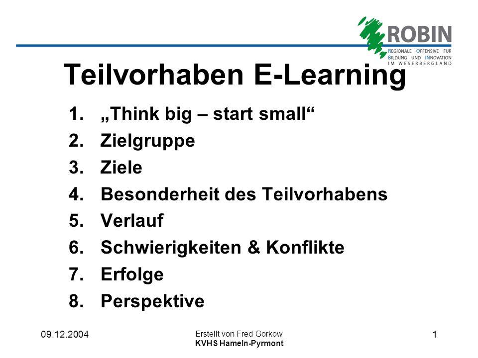 Teilvorhaben E-Learning