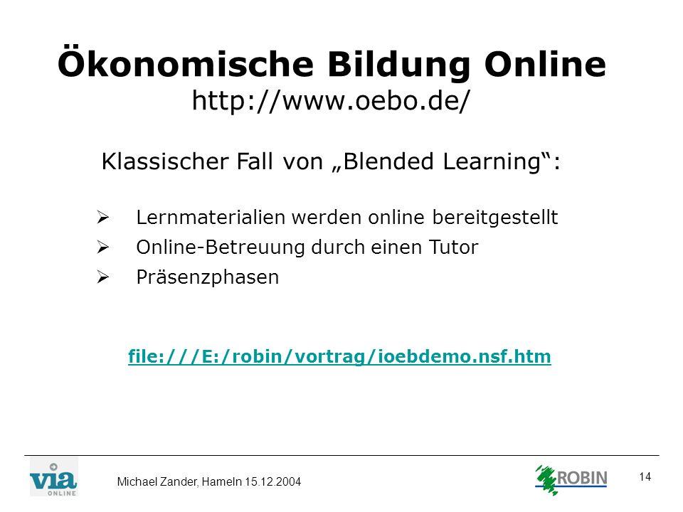 Ökonomische Bildung Online http://www.oebo.de/