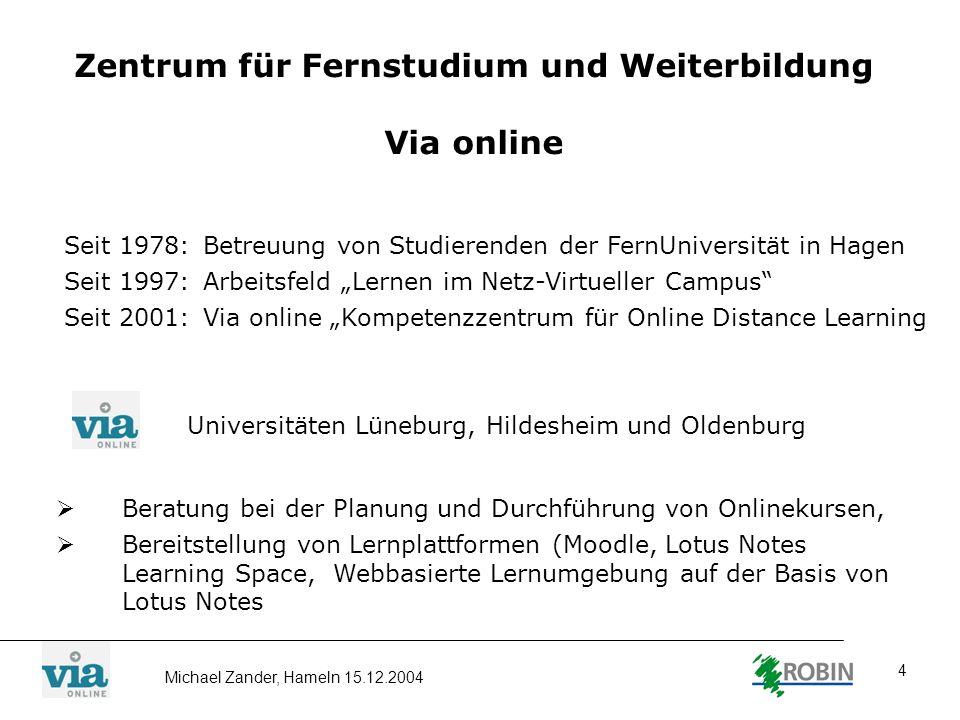 Zentrum für Fernstudium und Weiterbildung Via online