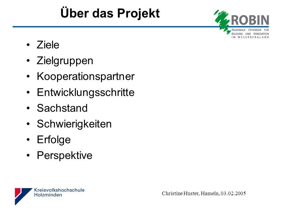 Über das Projekt Ziele Zielgruppen Kooperationspartner