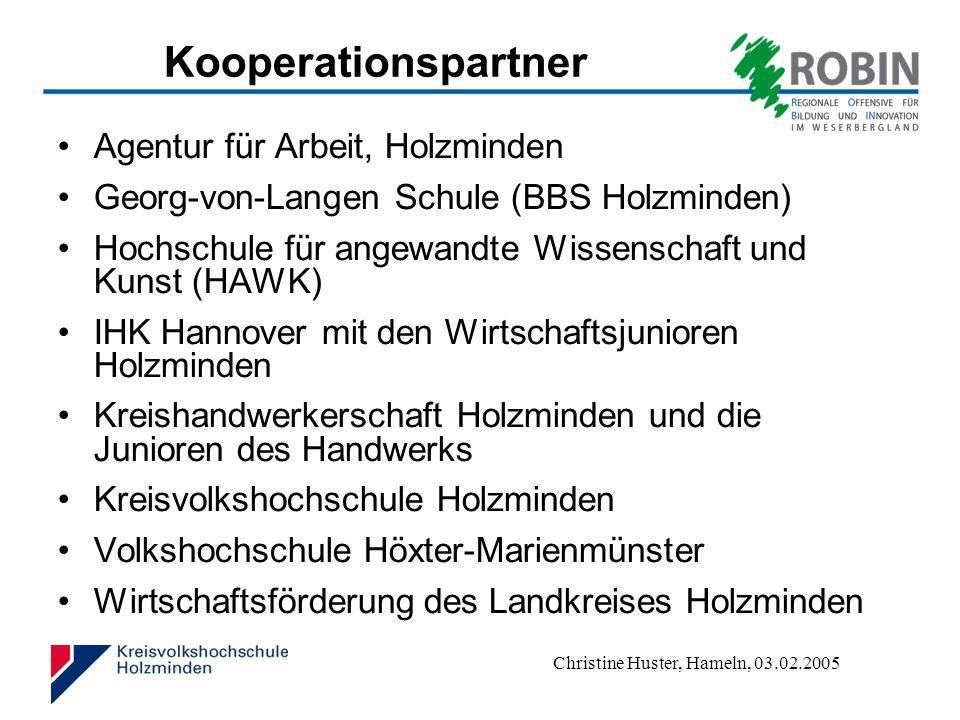 Kooperationspartner Agentur für Arbeit, Holzminden