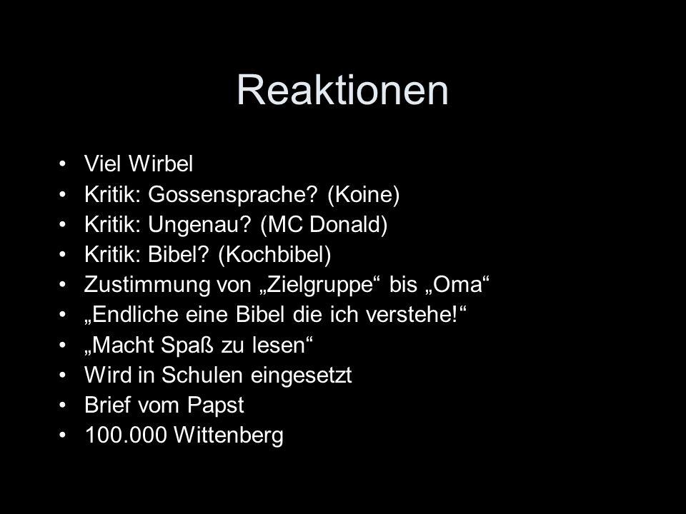 Reaktionen Viel Wirbel Kritik: Gossensprache (Koine)