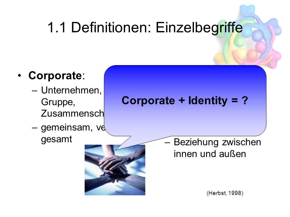1.1 Definitionen: Einzelbegriffe