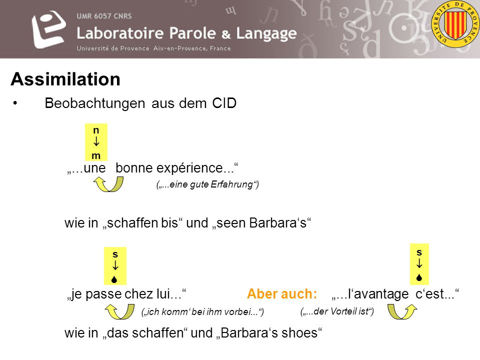 """wie in """"das schaffen und """"Barbara's shoes"""