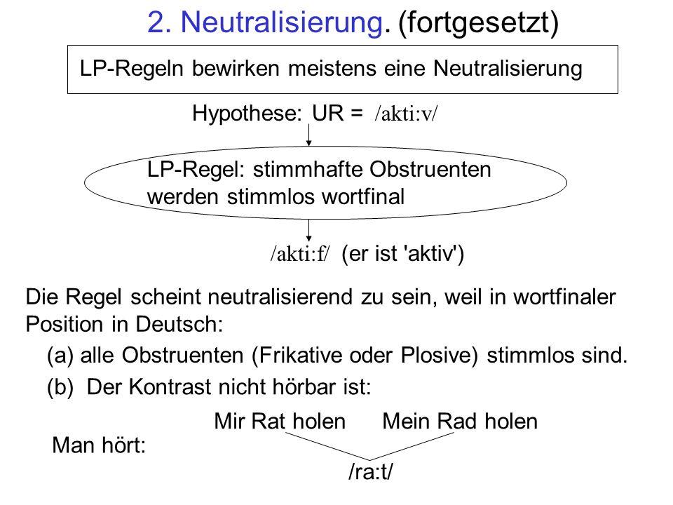 2. Neutralisierung. (fortgesetzt)