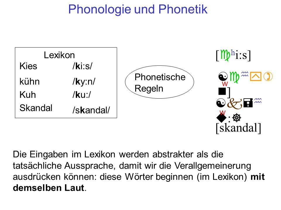 Phonologie und Phonetik
