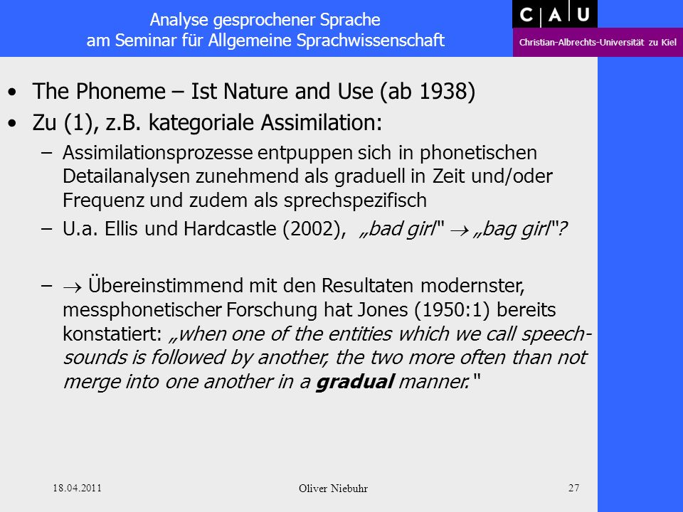 The Phoneme – Ist Nature and Use (ab 1938)