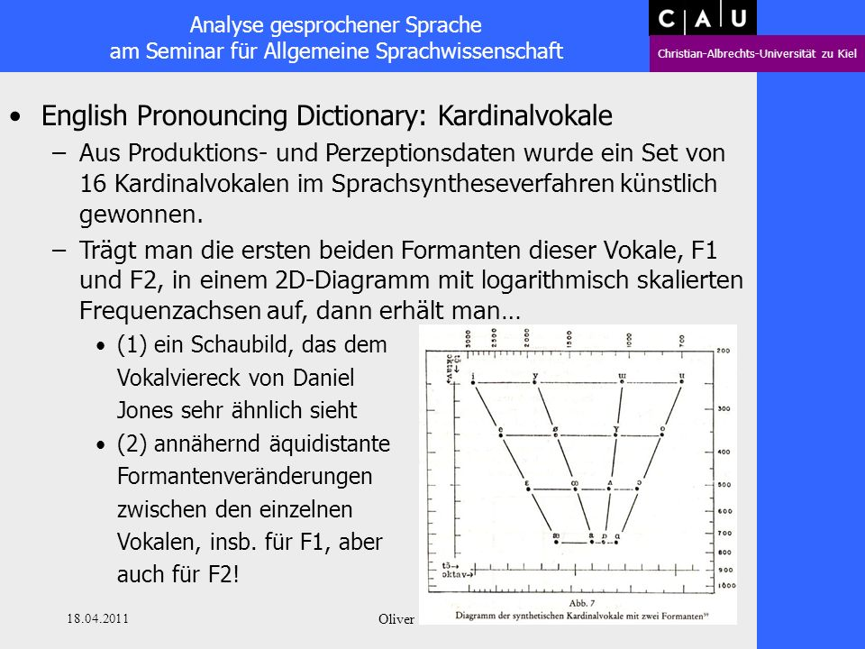 English Pronouncing Dictionary: Kardinalvokale
