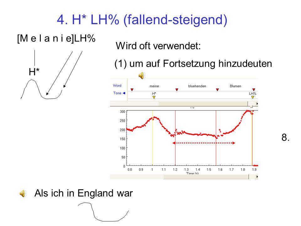 4. H* LH% (fallend-steigend)