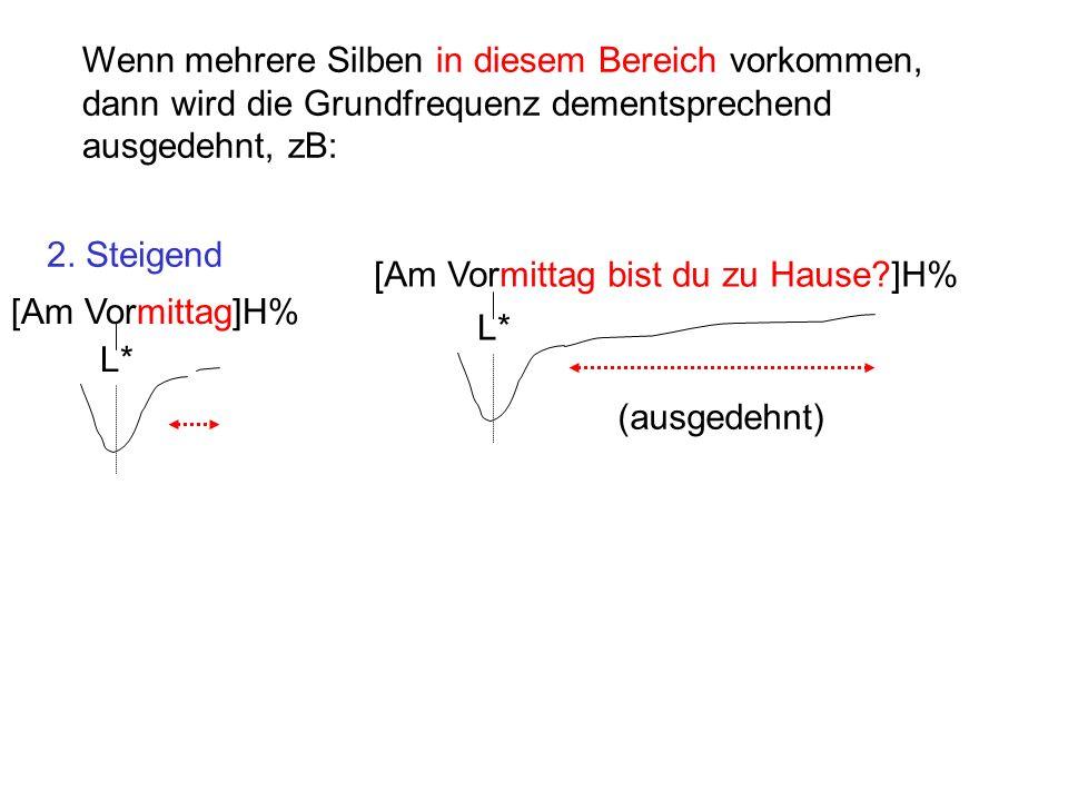 Wenn mehrere Silben in diesem Bereich vorkommen, dann wird die Grundfrequenz dementsprechend ausgedehnt, zB: