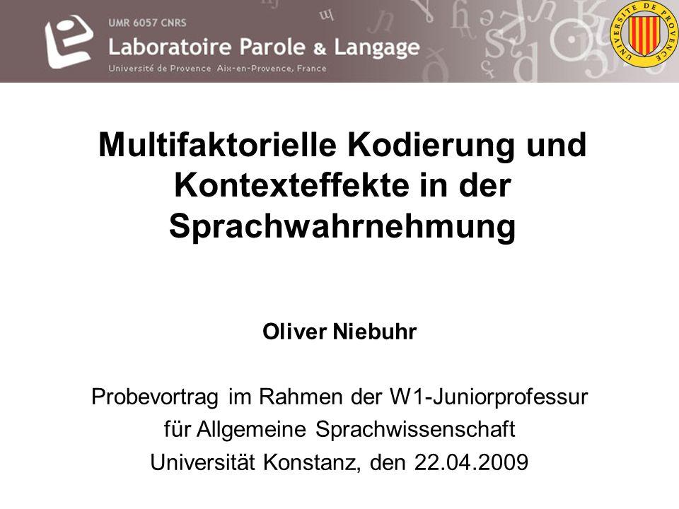 Multifaktorielle Kodierung und Kontexteffekte in der Sprachwahrnehmung