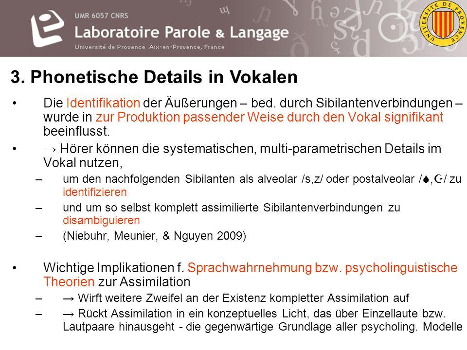 3. Phonetische Details in Vokalen