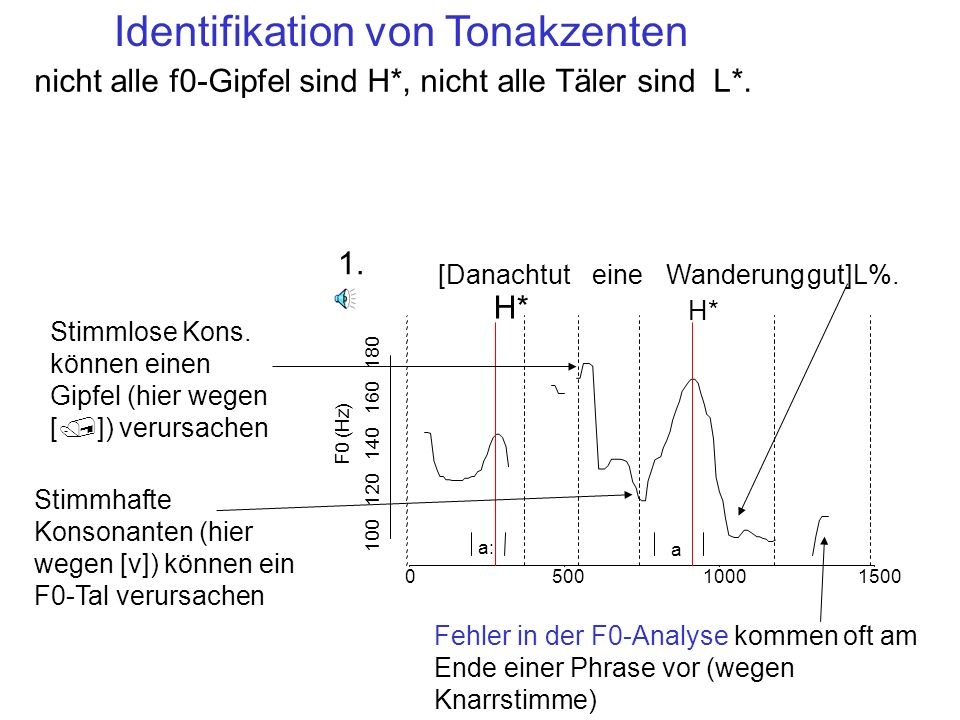 Identifikation von Tonakzenten